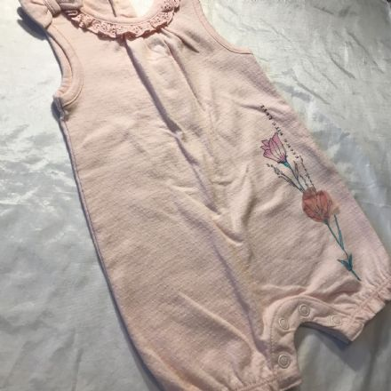 0-1 Month Salmon Romper